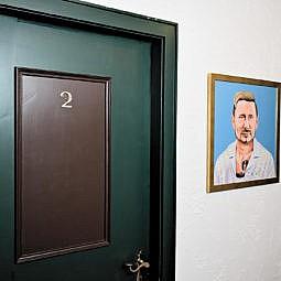 Hotel Zimmertür mit Vladimir Klitschko Foto